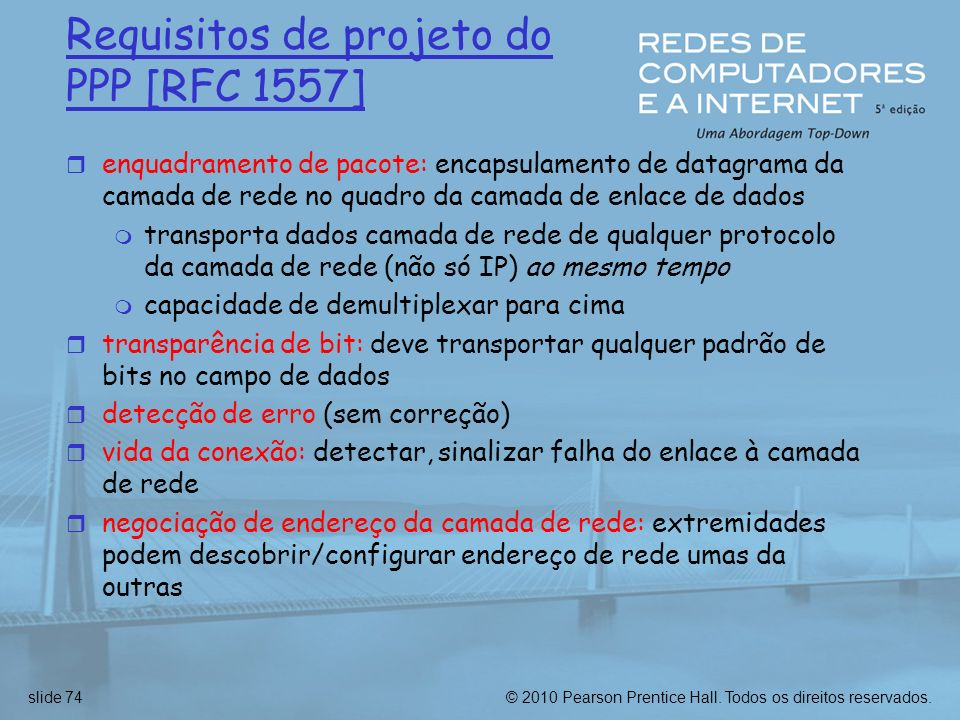 Requisitos de projeto do PPP [RFC 1557]
